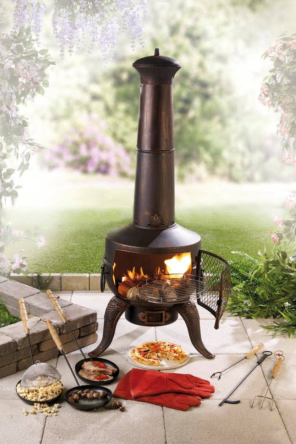 chiminea cooking